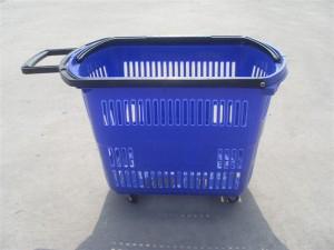 拉杆式购物篮